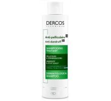 DERCOS Интенсивный шампунь-уход против перхоти для нормальных и жирных волос 200 мл