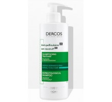 DERCOS Интенсивный шампунь-уход против перхоти для нормальных и жирных волос 390 мл