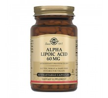 Солгар альфа-липоевая кислота 60 мг, 30 капсул (Solgar, Alpha Lipoic Acid)