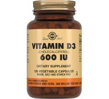 Солгар витамин Д3 600 МЕ, 120 капсул (Solgar, Vitamin D)