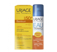 Набор Урьяж: Барьесан крем spf 50+ , термальная вода, 50 мл (Uriage, Bariesun)