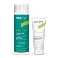 Набор Норева Эксфолиак: Интенсивный пенящийся гель 200 мл + Очищающий скраб 50 мл (Noreva, Exfoliac)