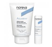 Норева Акварева набор: крем для рук, 50 мл + бальзам для губ (Noreva, Aquareva)