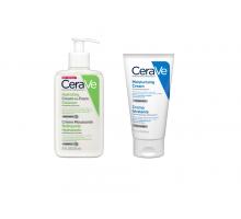 Цераве набор очищающая пенка, 236 мл + крем для сухой кожи лица и тела, 50 мл в подарок (Cerave)
