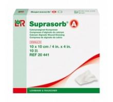 Супрасорб А - кальциево-альгинатная повязка. 10x10 см (Suprasorb A)