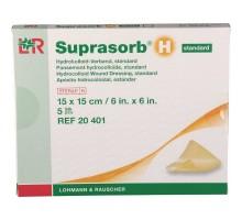 Супрасорб Н - гидроколлоидная повязка тонкая, 15x15 см (Suprasorb H)
