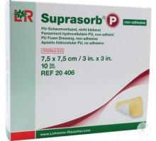 Супрасорб Р - полиуретановая неадгезивная губчатая повязка 7,5x7,5 см 1 штука (Suprasorb P)