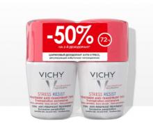 Виши дезодорант анти-стресс от избыточного потоотделения 72ч 2*50 мл