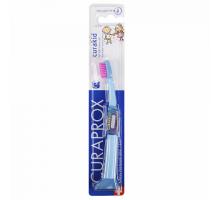 Курапрокс детская зубная щетка 4260 от 0 до 4 лет голубой цвет ручки (Curaprox, Curakid)
