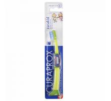 Курапрокс детская зубная щетка 4260 от 0 до 4 лет зеленый цвет ручки (Curaprox, Curakid)