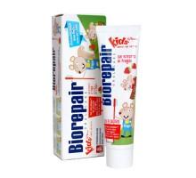 Биорепейр детская зубная паста Junior Kids Strawberry от 0 до 6 лет, 50 мл (Biorepair, Детская гамма)