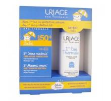 Набор Урьяж для детей: минеральный крем spf 50+, 50 мл + первая термальная вода, 50 мл