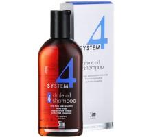 System 4 Shampoo № 4 Терапевтический шампунь для жирной и чувствительной кожи головы 215 мл
